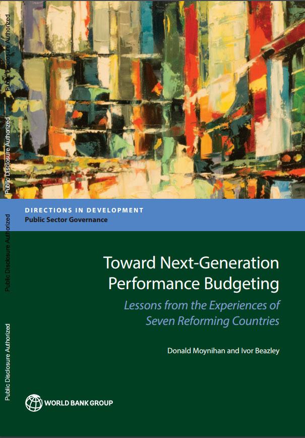 Moynihan book cover Next Gen Perf Budgeting 2016