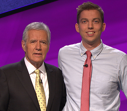 Alex Trebek and Mark Japinga. Credit Jeopardy Productions, Inc.