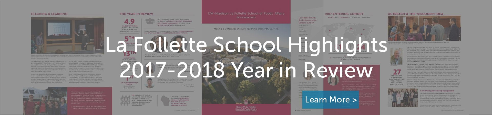 La Follette School Highlights 2016-2017