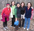As part of this year's reunion, these La Follette grads took a hike through Indian Lake park near Madison. From left: Erin McGrath, Helene Stebbins, Sue Gander, Becca Swartz and Monique Currie. Mary McGreevy took the photo