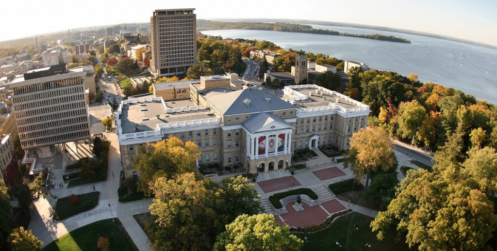 The UW-Madison campus in autumn