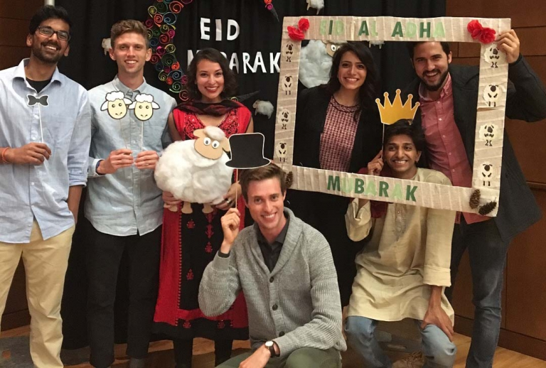 Atiya Rose Siddiqi (third from left) is a member of UW-Madison's Muslim Student Association.