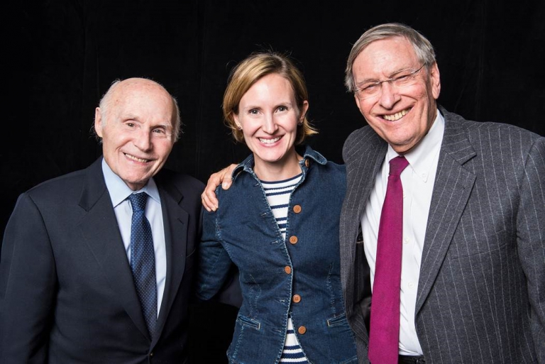 "From left: former U.S. Senator Herb Kohl, La Follette School Director Susan Yackee and commissioner emeritus of baseball Allan H. ""Bud"" Selig"