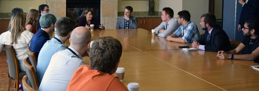 Students discuss policy issues with U.S. Sen. Klobuchar