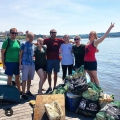 La Follette students and alumni in Washington, DC, collected more than 120 pounds of trash as part of a clean-up project on the Anacostia River.