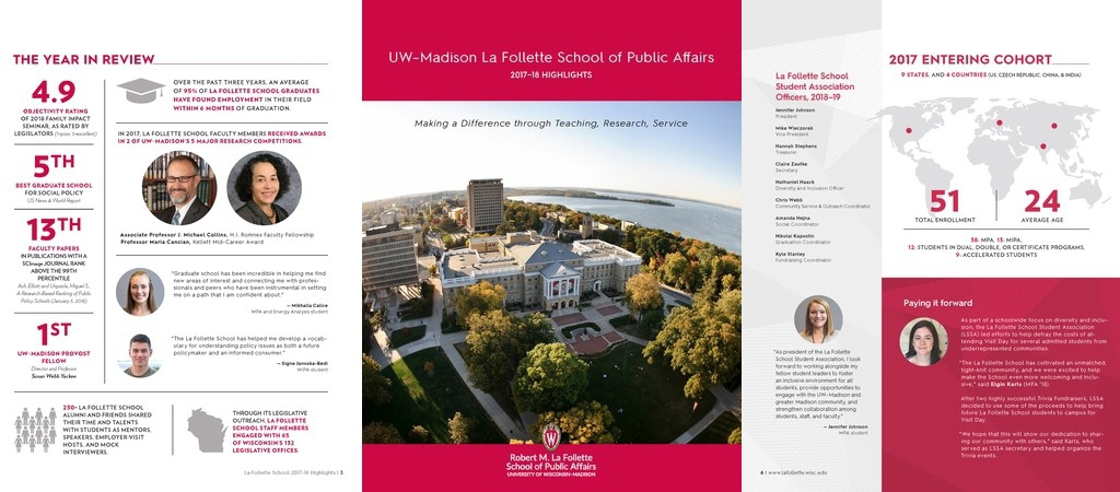 Highlights report emphasizes depth, breadth of La Follette School's reach
