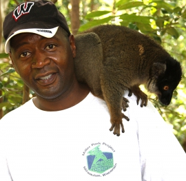 "James Gultry visits a lemur preservation site and popular tourist attraction outside of the capital city of Antananarivo, Madagascar. ""The lemurs are unnaturally friendly and accustomed to accompanying their guests throughout the park,"" says Gultry, who was in Madagascar for an assignment with the U.S. Agency for International Development"