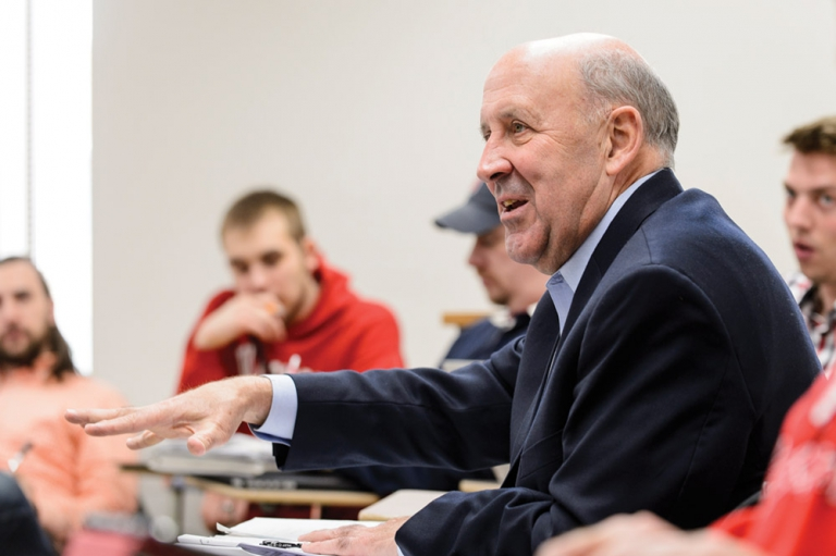 Jim Doyle taught a spring graduate course on state policy and politics at the La Follette School of Public Affairs.