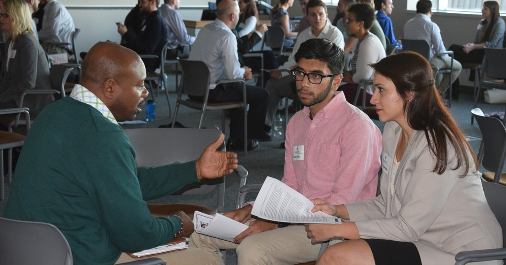 Alumni give back as speed-networking partners