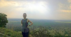 During her internship in Uganda, Kiersten Frobom visited the Great Rift Valley.