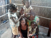 Sara Nowakowski, bottom center, served in the Peace Corps in Mozambique before pursuing her master's degree at the La Follette School of Public Affairs.